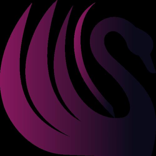 紫色天鹅矢量logo图标