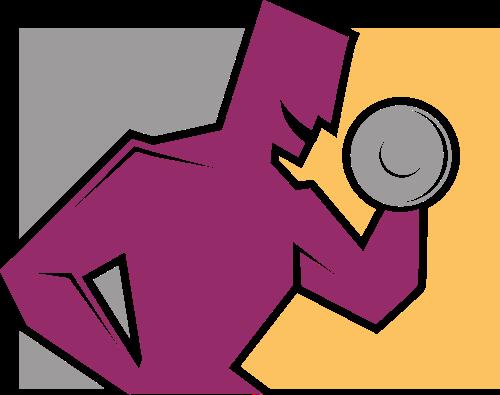 紫色人物哑铃矢量logo图标矢量logo