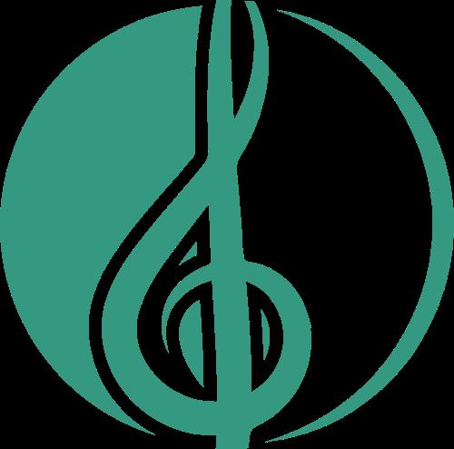 绿色圆形音乐音符矢量logo图标