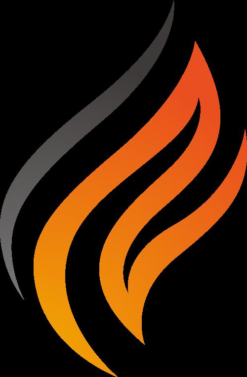 橙色火火焰矢量logo图标