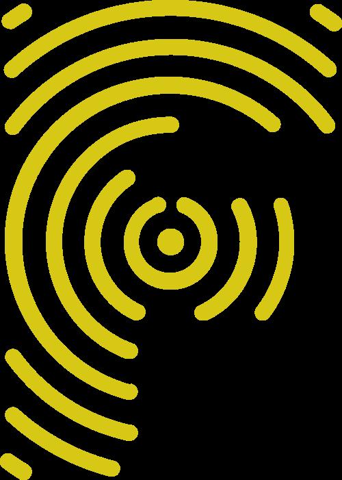 黄色字母F矢量logo图标