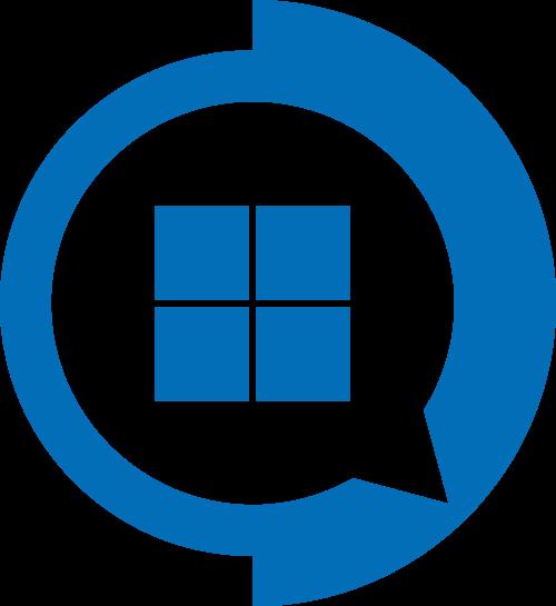 蓝色消息方格矢量logo图标