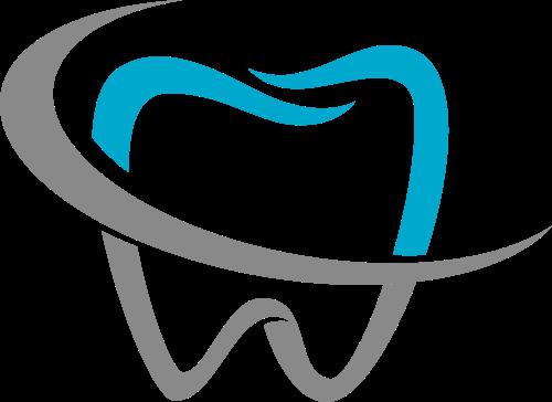 蓝色灰色牙齿矢量logo图标