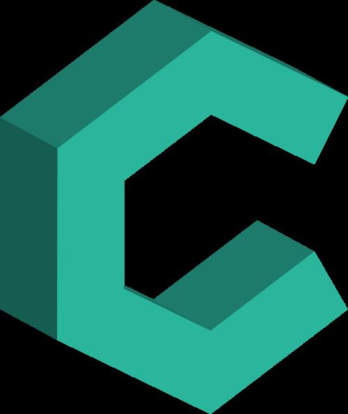 绿色字母C矢量logo图标矢量logo