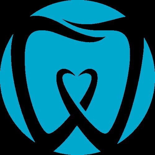 蓝色牙齿矢量logo图标