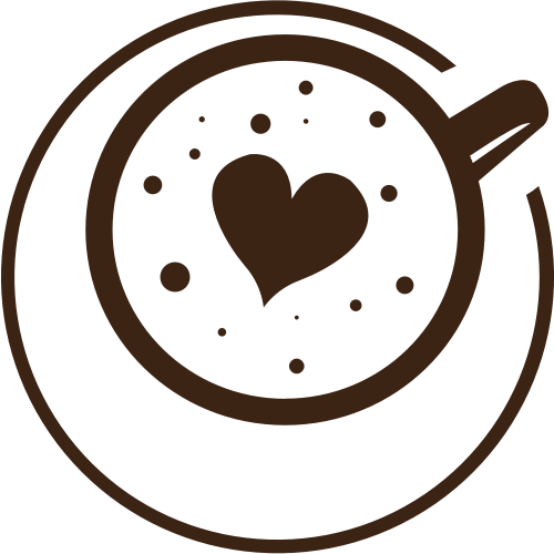 棕色咖啡杯子心形矢量logo图标矢量logo