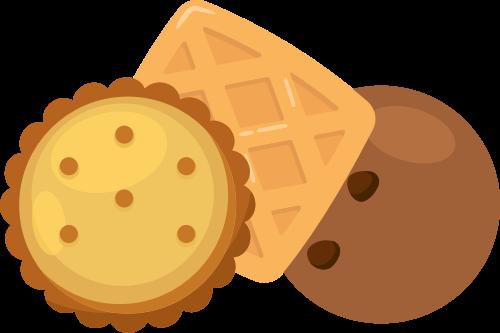 咖啡色饼干矢量logo图标