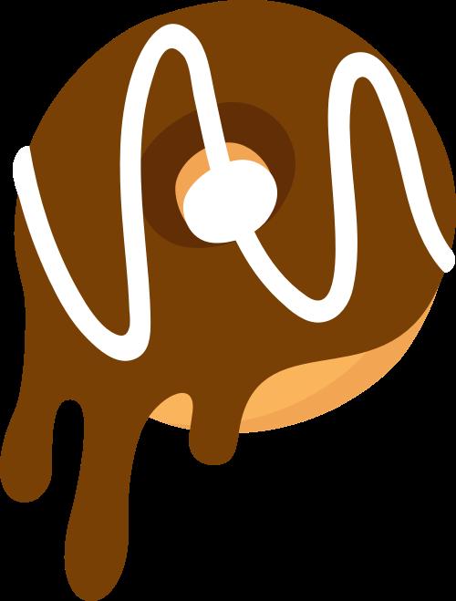 棕色甜甜圈矢量logo图标