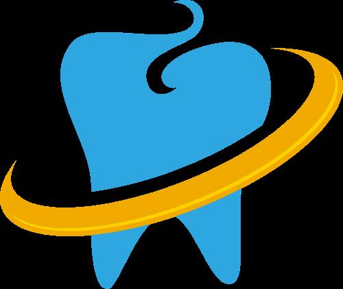 蓝色黄色牙齿矢量logo图标矢量logo