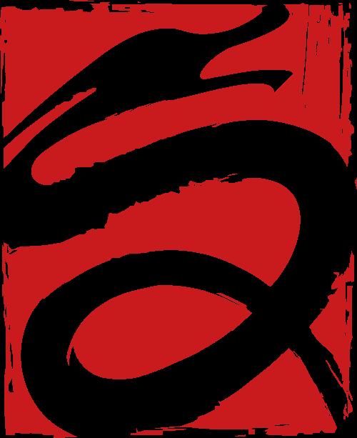 红色龙矢量logo图标