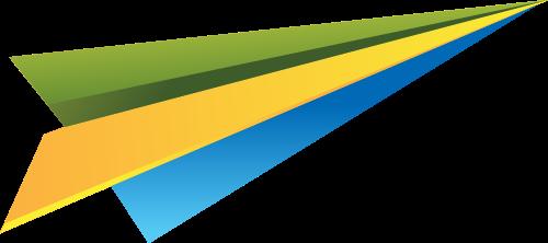 彩色纸飞机矢量logo图标矢量logo