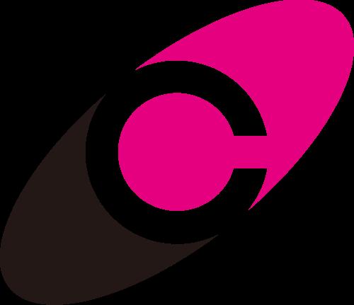 粉色黑色字母C矢量logo图标