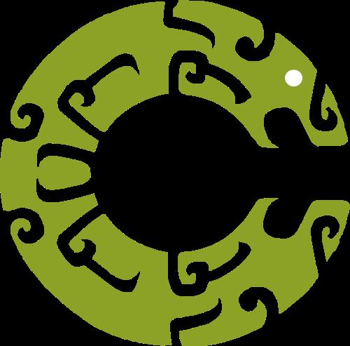 绿色抽象字母C矢量logo图标