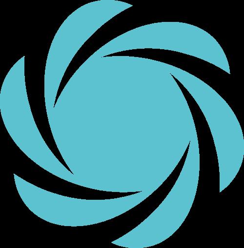 蓝色转抽象矢量logo图标