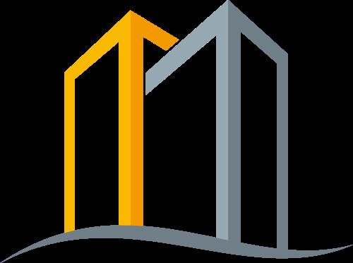 黄色灰色装修矢量logo图标
