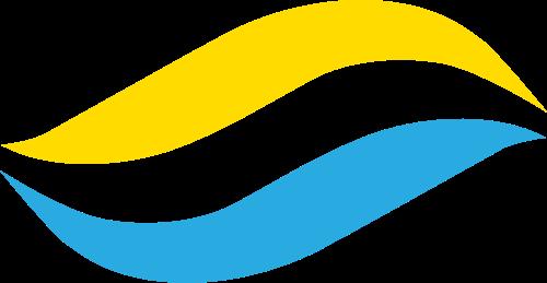蓝色黄色波浪矢量logo图标矢量logo