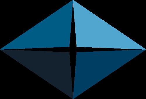 蓝色四边形矢量logo图标