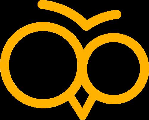 黄色小鸟眼睛矢量logo图标矢量logo