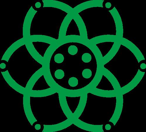 绿色花朵矢量logo图标矢量logo