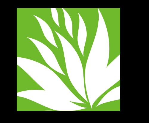 绿色花朵矢量logo图标