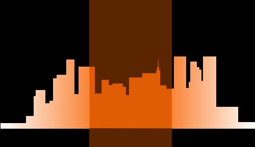 橙色橙色生活矢量logo图标