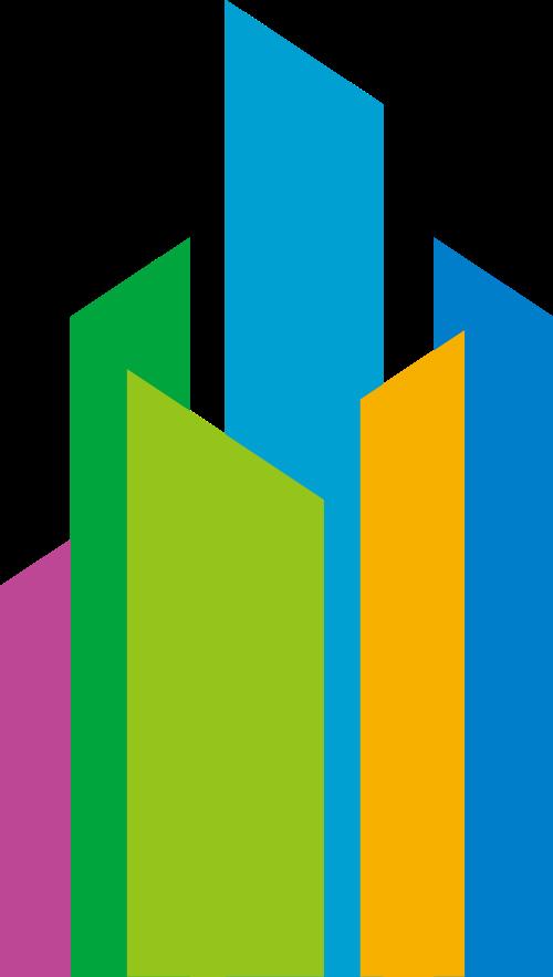 彩色建材抽象矢量logo图标矢量logo
