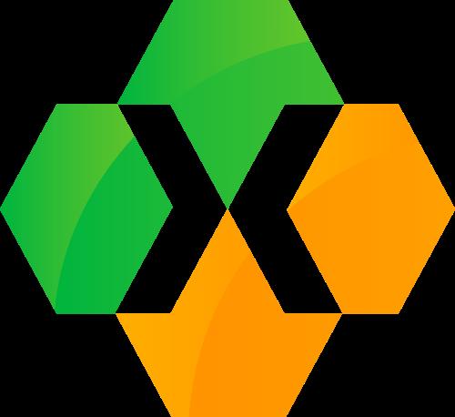 绿色橙色字母X矢量logo图标矢量logo
