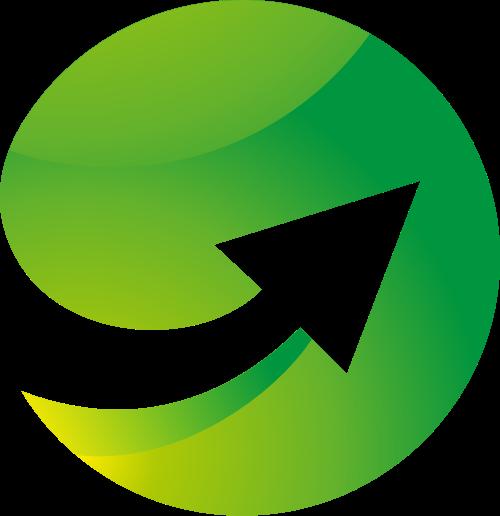 绿色箭头矢量logo图标