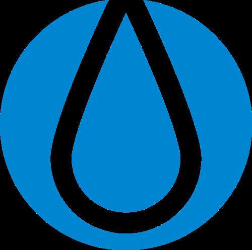 蓝色水滴矢量logo图标