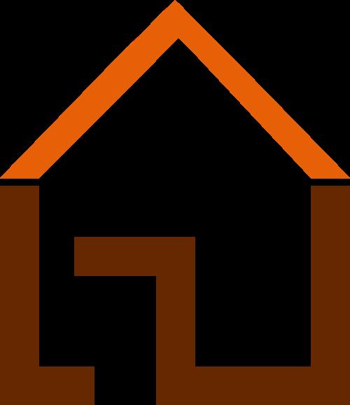 橙色建材家装矢量logo图标