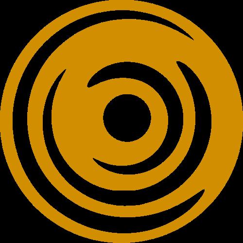黄色球形抽象矢量logo图标