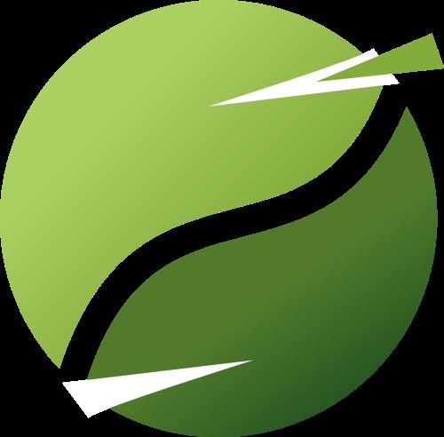 绿色圆形矢量logo图标