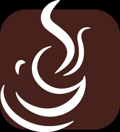 棕色正方形咖啡矢量logo图标矢量logo