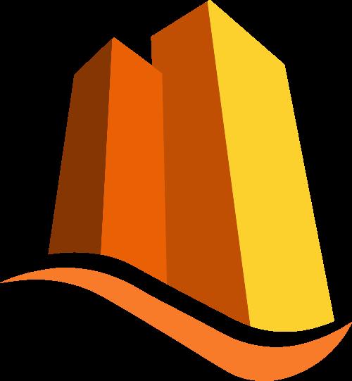 橙色建筑矢量logo图标