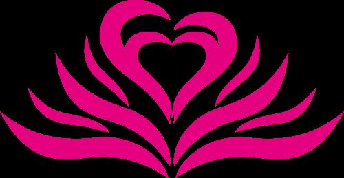粉色花朵心女性矢量logo图标