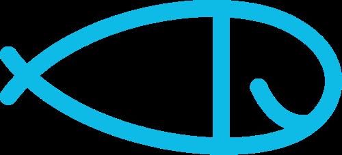 蓝色小鱼矢量logo图标