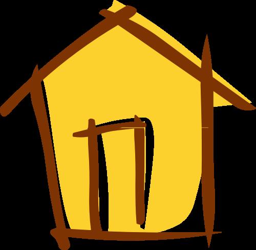 黄色房子矢量logo图标