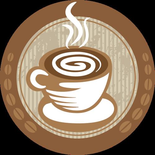 棕色咖啡圆形矢量logo图标矢量logo