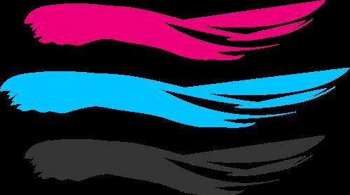 彩色水彩矢量logo图标
