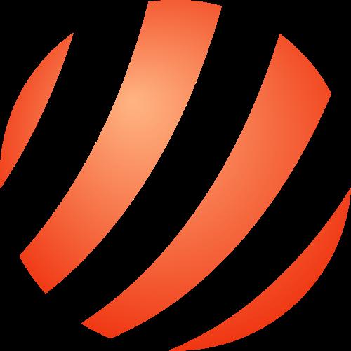 橙色球矢量logo图标