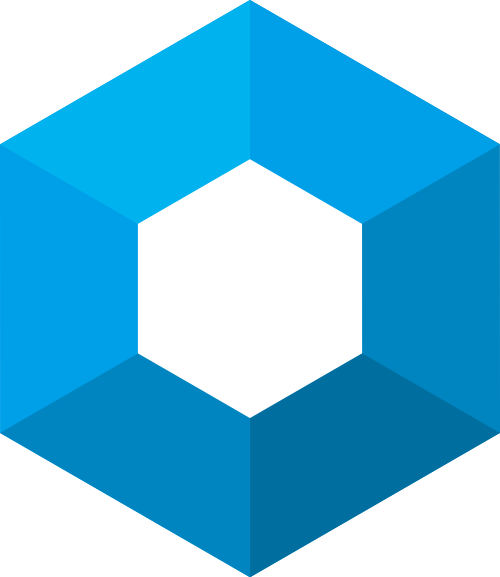 蓝色六边形综合矢量logo图标