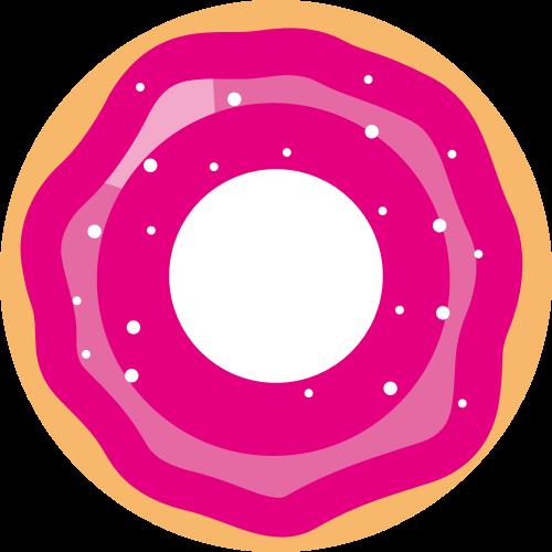 粉色甜甜圈矢量logo图标