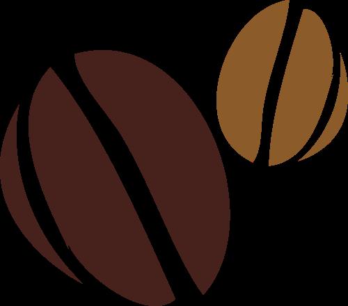 棕色咖啡豆矢量logo图标矢量logo