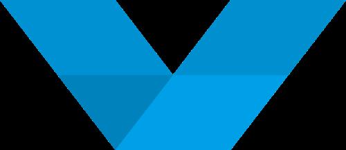 蓝色字母V矢量logo图标