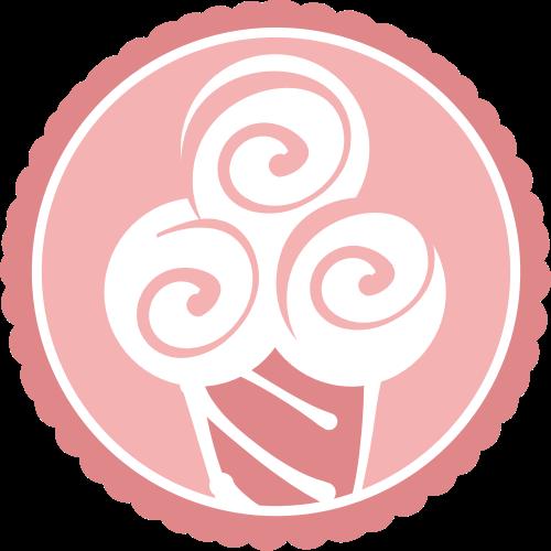 粉色圆形矢量logo图标