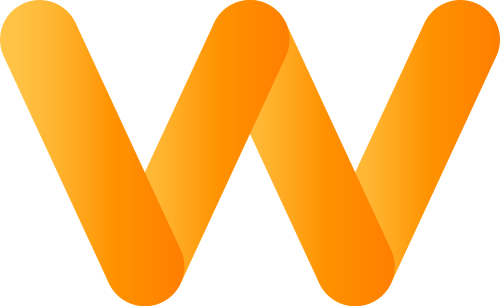 黄色字母W矢量logo图标