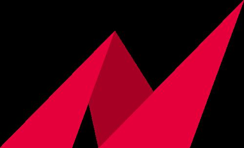 红色折纸矢量logo图标