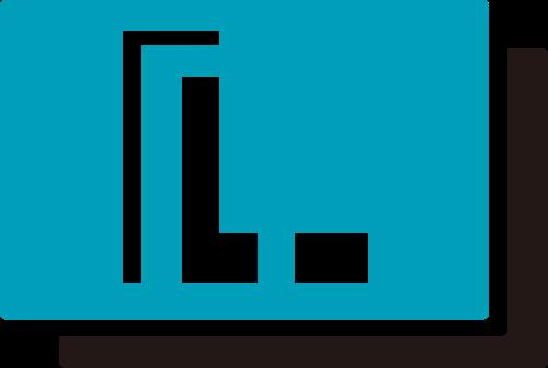 蓝色字母L矢量logo图标矢量logo