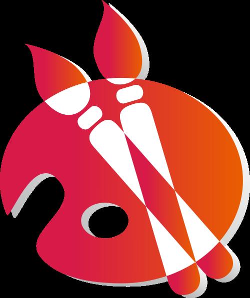 红色画笔矢量logo图标矢量logo