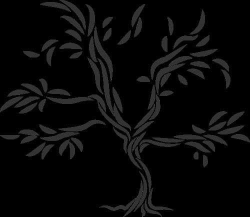 黑色树矢量logo图标